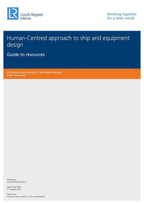 Picture of Human-Centred approach to ship and equipment design