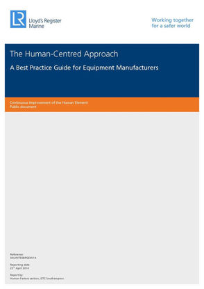 Picture of The Human-Centred Approach - A Best Practice Guide for Equipment Manufacturers