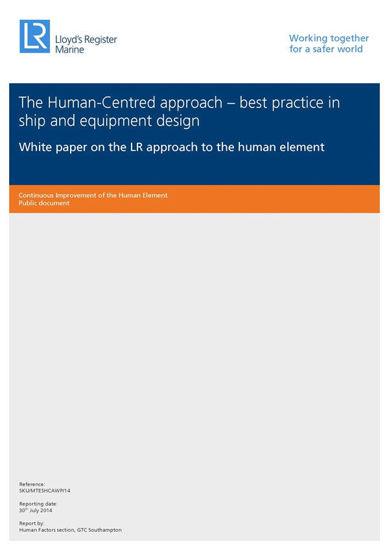 Picture of The Human-Centred approach - best practice in ship and equipment design