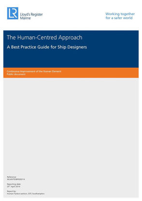 Picture of The Human-Centred Approach A Best Practice Guide for Ship Designers