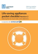 Picture of Life-Saving Appliances Pocket Checklist (Revision 3) - Printed Copy