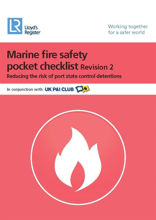 Picture of Marine Fire Safety Pocket Checklist (Revision 3) - Printed Copy