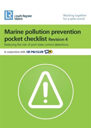 Picture of Marine Pollution Prevention Pocket Checklist (Revision 5) - PDF Download