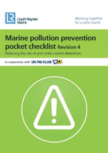 Picture of Marine Pollution Prevention Pocket Checklist (Revision 5) - Printed Copy